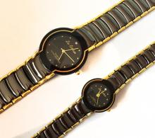 Set of Lee Cardeen Quartz watches for man and woman with bracelet