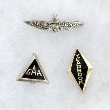 Lot of 3 vintage small pins