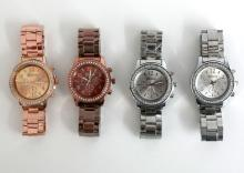 Lot of 4 Geneva watches and bracelets