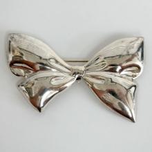Vintage sterling silver BOW shape brooch, pendant