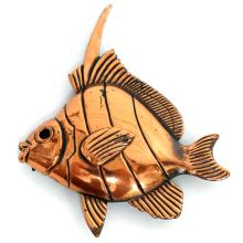 Copper color FISH shaped brooch