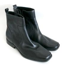 Rockport high Trent Toloni genuine black leather men's boots side zip, size 12 M