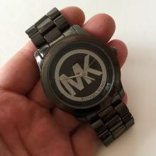 Black color stainless steel round MICHAEL KORS mod. MK 3078 watch with bracelet