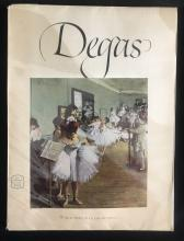 "1952 Vintage Full Color Art Plate /""THE DANCING CLASS/"" by DEGAS Lithograph RARE"