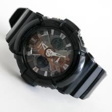 Black rubber round CASIO G-SHOCK Chrono watch with matching bracelet