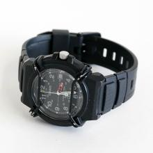 Black rubber ladies CASIO HD, Date watch with bracelet