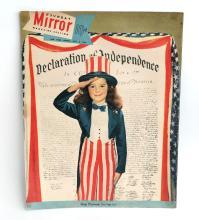 Vintage MIRROR magazine cover July 2, 1950 with photo Gigi Perreau