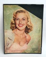 Vintage magazine cover, circa 1950 with photo Marjie Millar