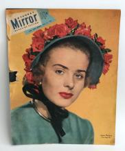Vintage MIRROR magazine cover May 14, 1950 with photo Jean Peters
