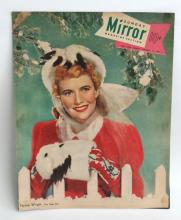 Vintage MIRROR magazine cover February 19, 1950 with photo Teresa Wright