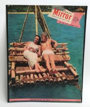 Vintage MIRROR magazine cover November 11, 1951 with photo Linda Darnell and Tab Hunter