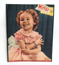 Vintage MIRROR magazine cover April 8, 1951 with photo Carol Osborn - America's most charming child
