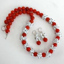 SET: hand made sterling silver Necklace and Earrings