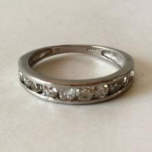 Platinum diamond ring, size 7 1/4