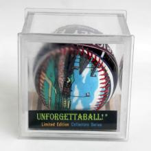 Limited edition Collectors series BASEBALL. COLLECTABLE hand - designed baseball in clear hard plastic box, signed