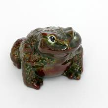 Fine porcelain FROG TOAD statuette figurine, very detailed, no hallmarks