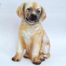 Ceramic tan DOG PUPPY figurine statuette