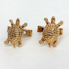 Gold plated TURTLE shaped cufflinks