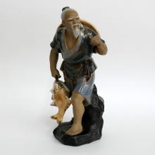 Porcelain ORIENTAL FISHERMAN figurine statue