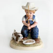 Porcelain statuette figurine