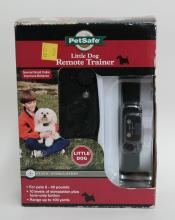 Little Dog Remote Trainer box with special small collar that improves behaviour via static simulation