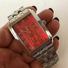 Stainless steel matt and shiny finish rectangular JACOT Automatic Chrono men watch and matching bracelet