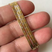 14k yellow color gold flat