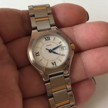 2-tone stainless steel round COACH Date Swiss ladies watch with matching bracelet