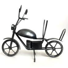 Silver tone black antique finish hand made MOTORCYCLE figurine