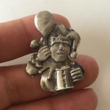 Silver tone pewter PUB CRANZ pin, dated 2015