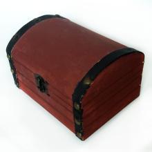 Vintage wooden very light Rowan and black color box trinket