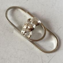 Sterling silver oval shape money clip with Panther head