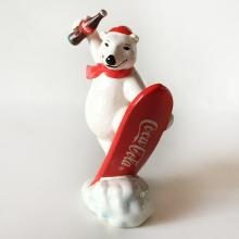 COCA COLA: Vintage porcelain White Bear figurine 1995 Sport Collection, signed