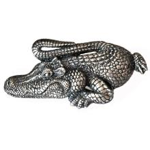 Crocodile / Alligator Sterling silver 925 buckle fit 1 inch / 25mm belt Oxidized