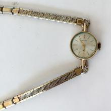 Vintage gold plated ladies HAMILTON Swiss watch with matching bracelet and safety chain