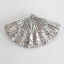 Sterling Silver FAN brooch pin