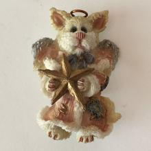 Vintage SAINT MOUSE WITH STAR AND WINGS shaped brooch