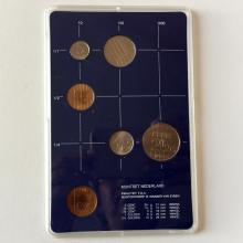 1982 Netherlands Proof Set 5 Coins and a Mint Token 's Rijks Munt Utrecht