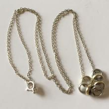 JCM: Sterling silver chain with 7 sliding small rings