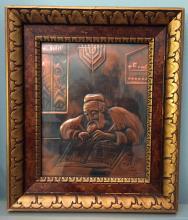 MOONID: Vintage gold tone wooden frame