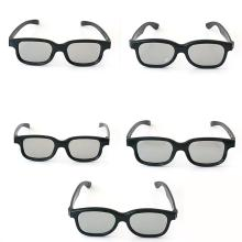 Lot contain 5 black plastic frame sunglasses REAL D 3D with gray lenses eyeglasses