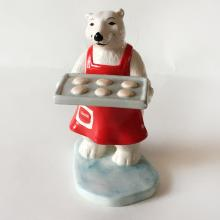 COCA COLA: Vintage porcelain White Bear figurine 1997 Christmas Collection, signed