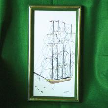 Vintage Joan Bryant Tall Ship Framed Print