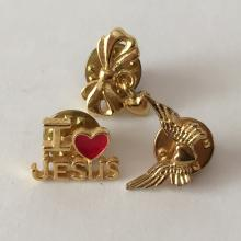 Vintage 3 gold plated small pins