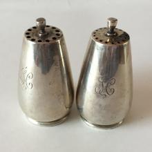 Vintage / Antique? sterling silver SET - SALT AND PEPPER SHAKERS