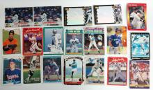 Lot of 81 baseball and football trading cards.