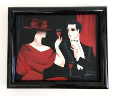 Contemporary black frame painting