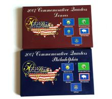 2007 Commemorative Quarters 2 sets (5 coins in each): Denver, Philadelphia. Comes with certificates of authenticity