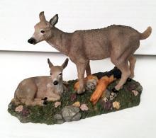 DEER WITH CUB figurine statuette