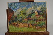 Joseph LE TESSIER (1867-1949). «Orée du bois» huil